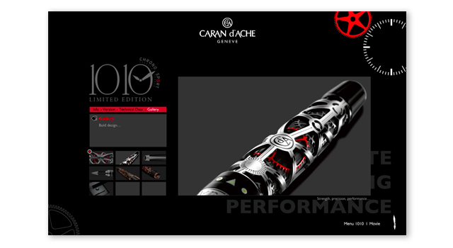 "Mini site Flash ""1010"" Caran d'ache"